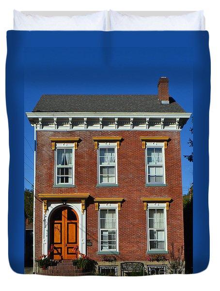 Historic Madison Row House Duvet Cover