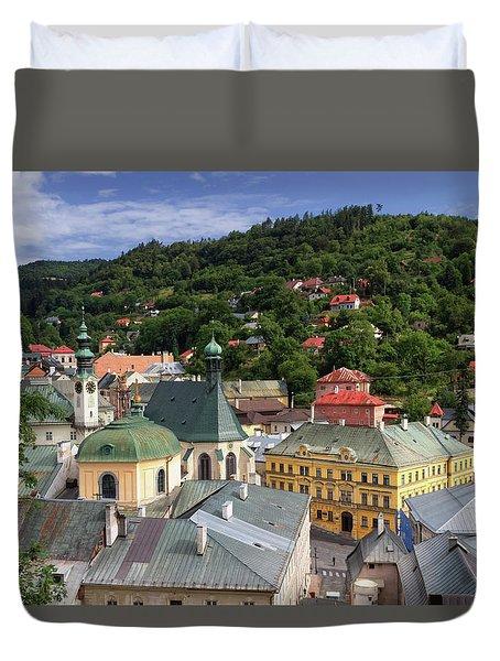 Historic Mining Town Banska Stiavnica, Slovakia Duvet Cover