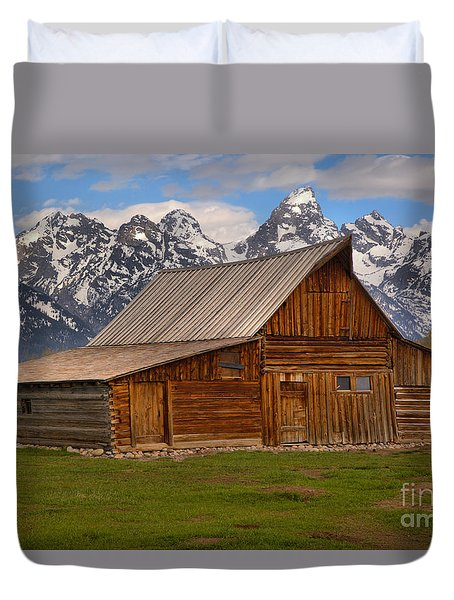 Historic Moulton Barn Duvet Cover by Adam Jewell