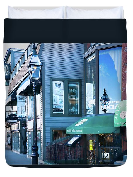 Duvet Cover featuring the photograph Historic Newport Buildings by Nancy De Flon