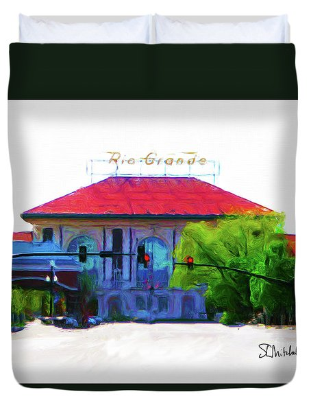 Historic Rio Grande Station Duvet Cover