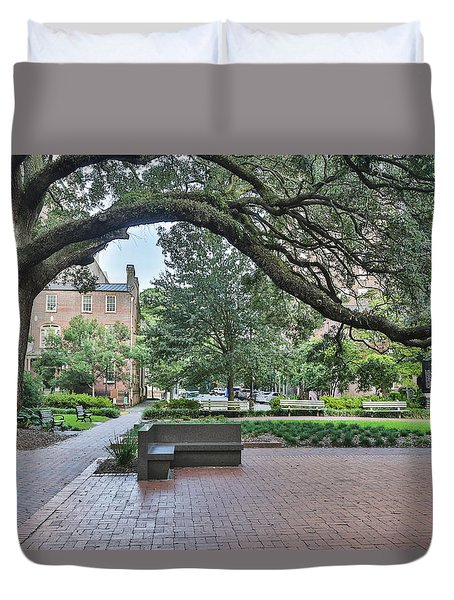 Historic Sqaure Duvet Cover