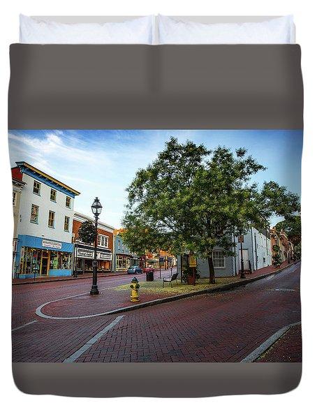 Historic Streets Duvet Cover