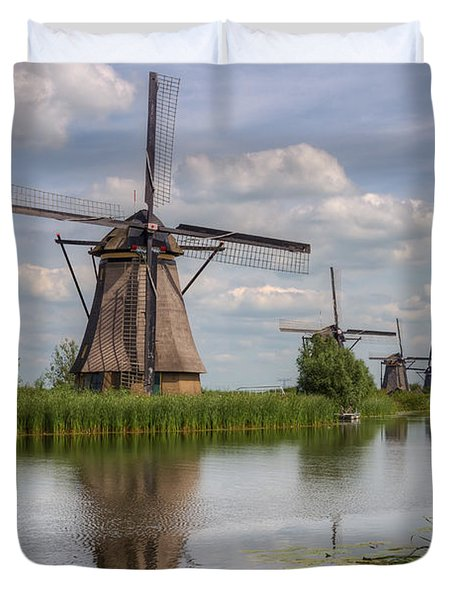 Historic Windmills In Holland Duvet Cover