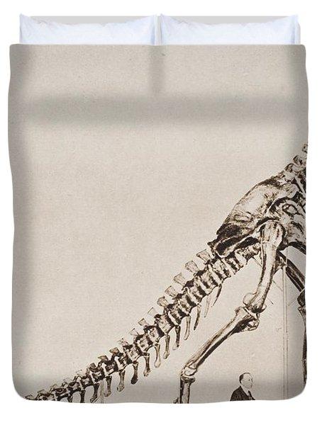 Historical Illustration Of Dinosaur Duvet Cover