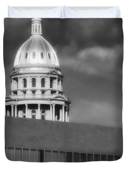 Duvet Cover featuring the photograph Historical Society Colorado by Ron White