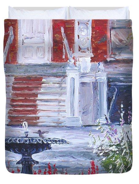 Historical Society Garden Duvet Cover
