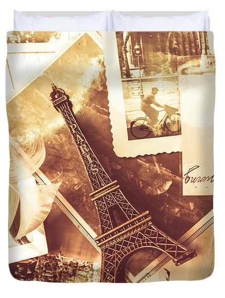 History And Sentiment Of Vintage Paris Duvet Cover