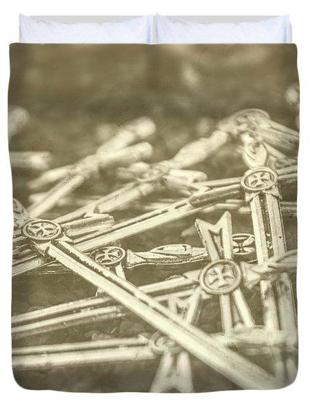 History Of The Sword Duvet Cover