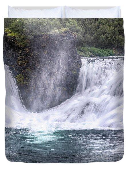 Hjalparfoss - Iceland Duvet Cover