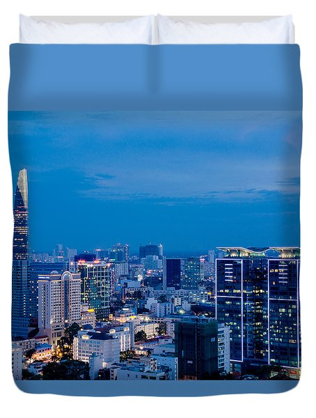 Ho Chi Minh City Night Duvet Cover