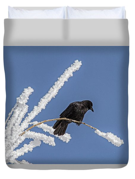 Hoarfrost And The Crow Duvet Cover