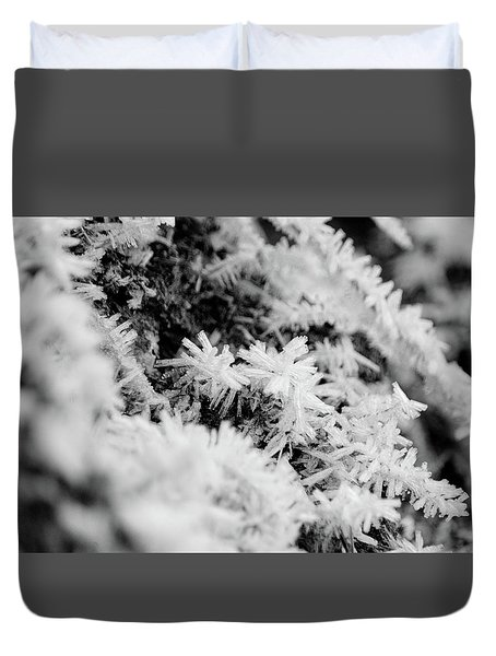 Duvet Cover featuring the photograph Hoarfrost by Erin Kohlenberg