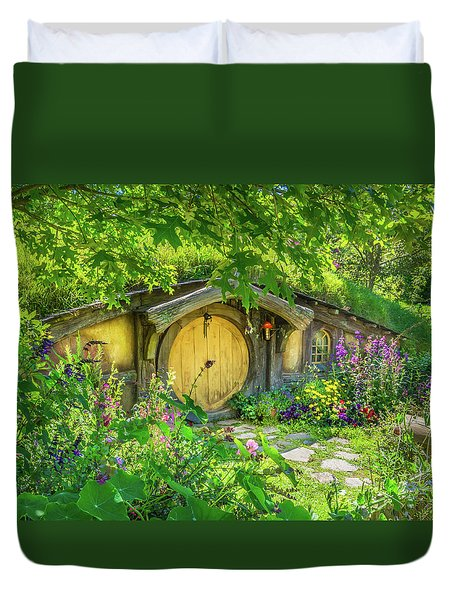 Hobbit Cottage Duvet Cover