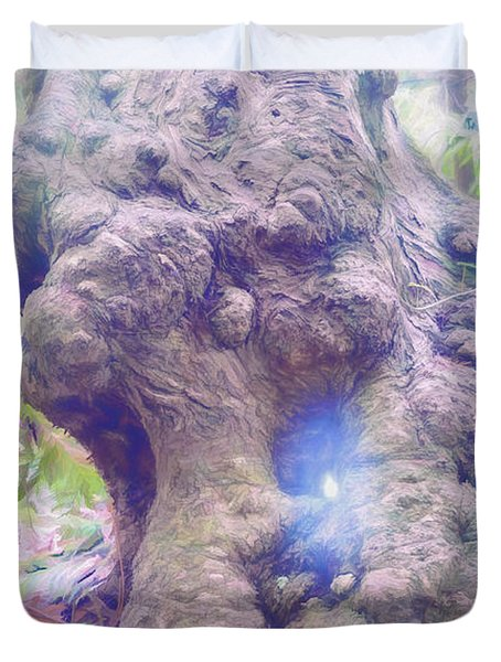 Duvet Cover featuring the photograph Hobbit House by Jean OKeeffe Macro Abundance Art
