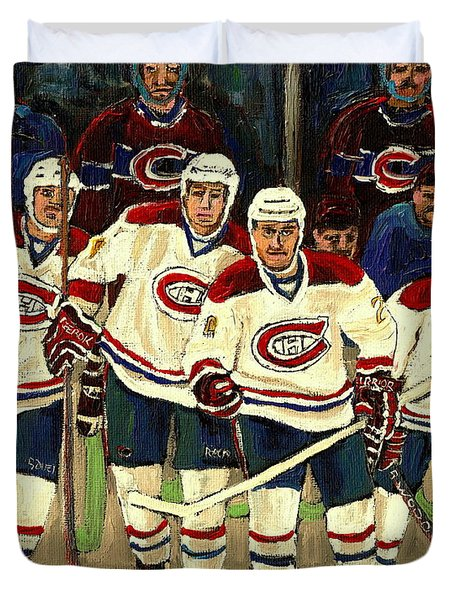 Hockey Art The Habs Fab Four Duvet Cover