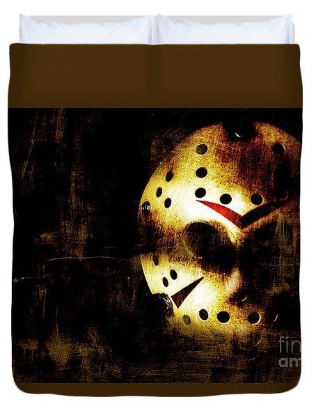 Hockey Mask Horror Duvet Cover by Jorgo Photography - Wall Art Gallery