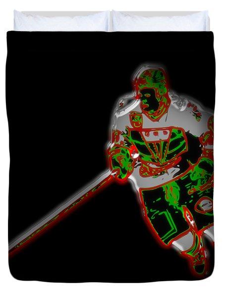 Hockey Player Duvet Cover
