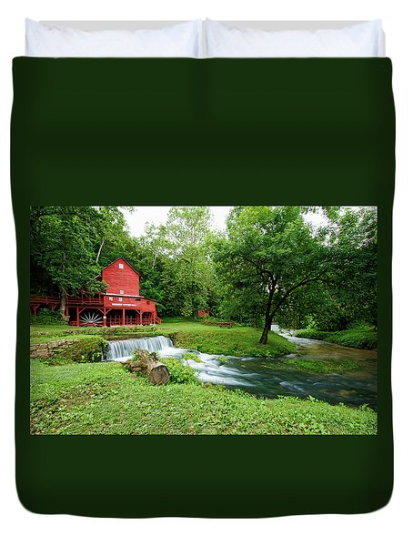 Hodgson Water Mill And Spring Duvet Cover by Cricket Hackmann