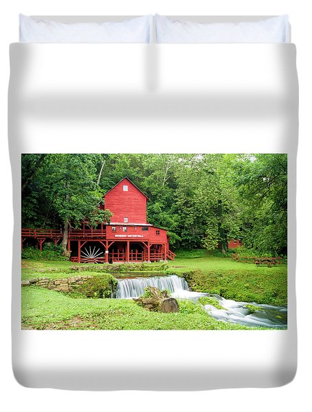 Hodgson Water Mill Duvet Cover by Cricket Hackmann