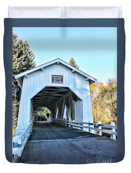 Hoffman Covered Bridge Duvet Cover by Erica Hanel