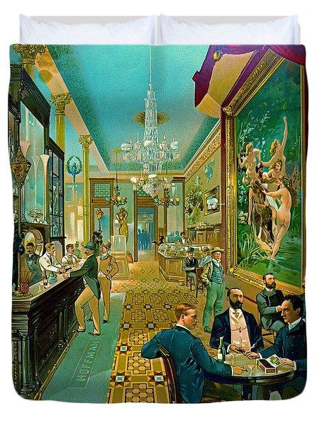 Hoffman House Bar 1890 Duvet Cover