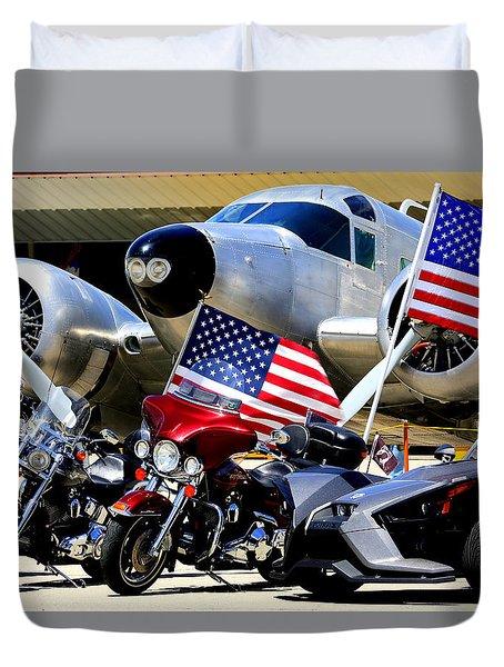 Hog Heaven At The Hollister Air Show Duvet Cover