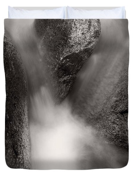 Hogback Creek And Granite Inyo Natl Forest Bw Duvet Cover by Steve Gadomski