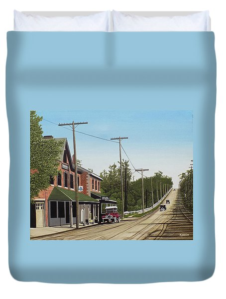 Hoggs Hollow Toronto 1920 Duvet Cover by Kenneth M  Kirsch