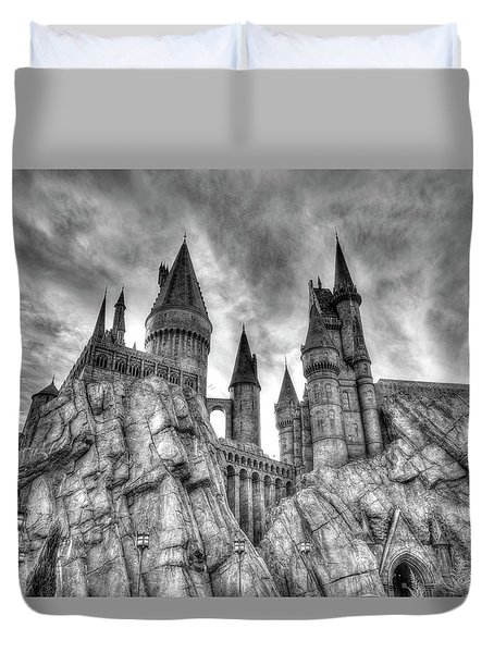 Duvet Cover featuring the photograph Hogwarts Castle 1 by Jim Thompson