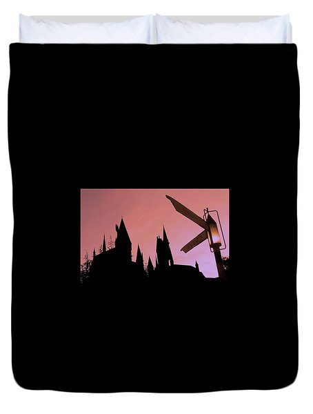 Duvet Cover featuring the photograph Hogwarts Castle by Juergen Weiss