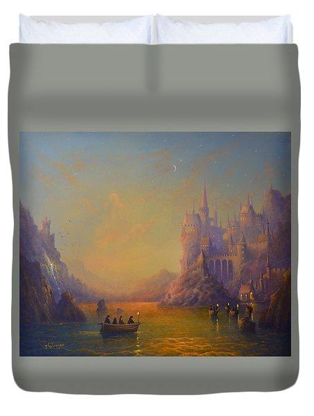 Hogwarts Castle Duvet Cover by Joe Gilronan