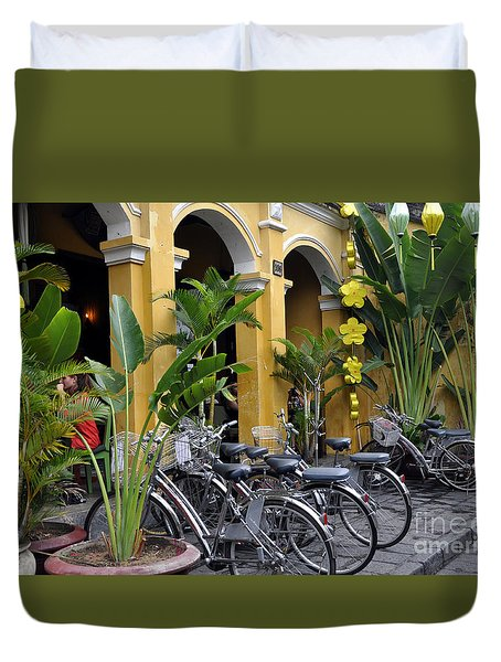 Hoi An Bicycles Duvet Cover