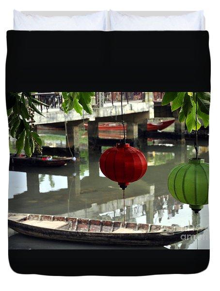 Hoi An Canoe Duvet Cover
