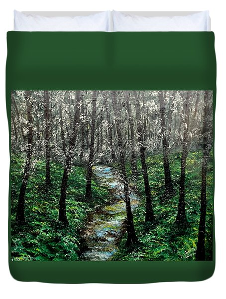 Hold My Hand For Awhile Duvet Cover by Lisa Aerts
