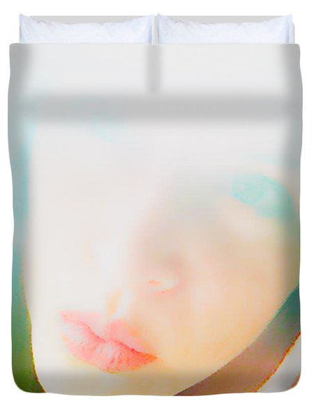 Hold Your Breath Duvet Cover by Amanda Barcon
