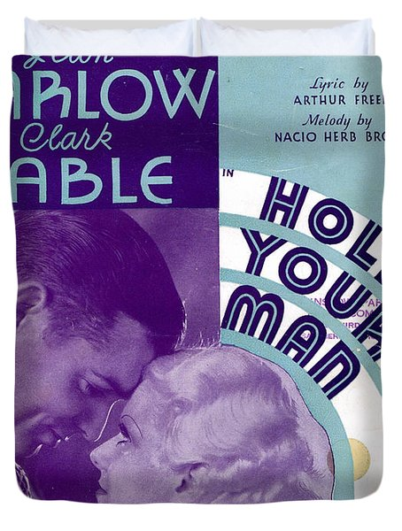 Hold Your Man Duvet Cover by Mel Thompson