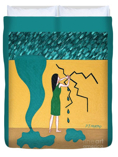 Holding Back The Flood Duvet Cover by Patrick J Murphy