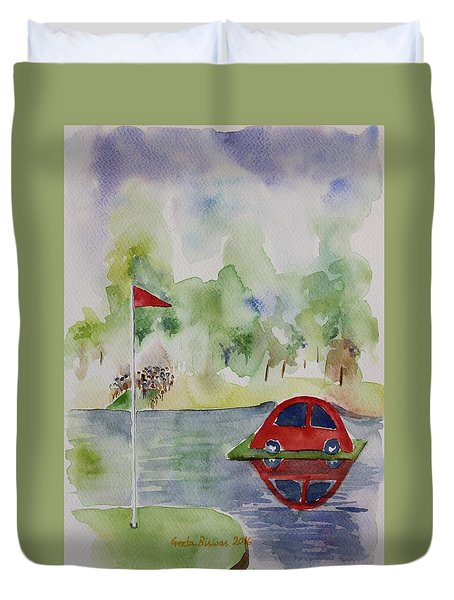 Hole In One Prize Duvet Cover by Geeta Biswas