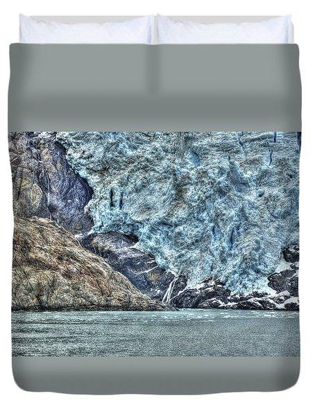 Holgate Glacier Hdr Duvet Cover