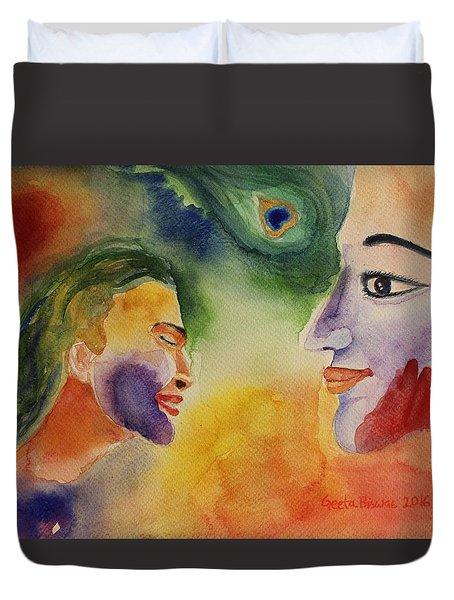 Holi The Festival Of Colors Duvet Cover by Geeta Biswas