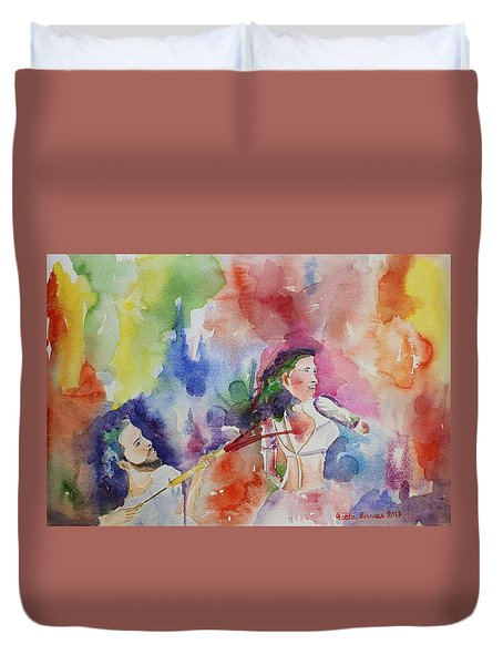 Holi The Spring Festival  Duvet Cover by Geeta Biswas