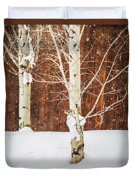 Holiday Aspens Duvet Cover