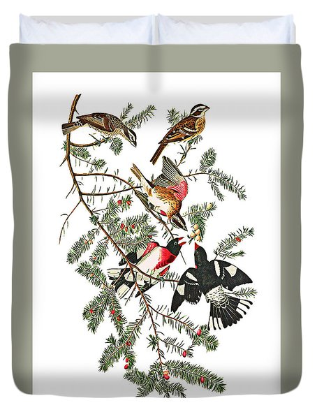 Duvet Cover featuring the photograph Holiday Birds by Munir Alawi