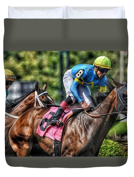 Holiday Bonus With Irad Oriz, Jr. Duvet Cover