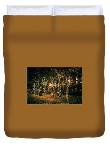 Holiday Handsome Cab Duvet Cover