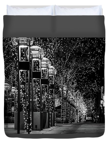 Holiday Lights - 16th Street Mall Duvet Cover
