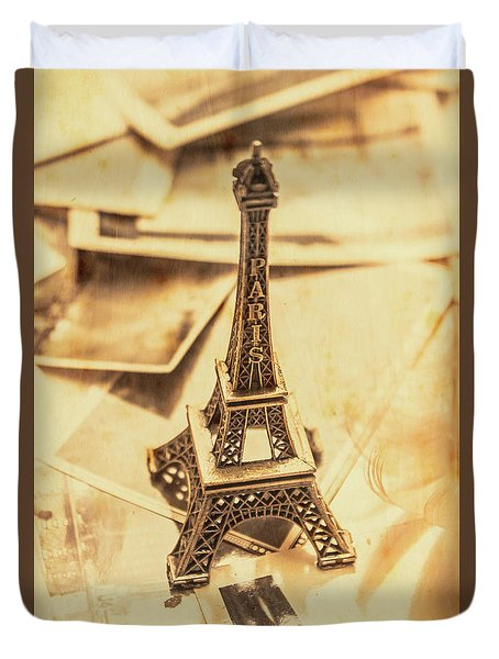 Holiday Nostalgia In Vintage France Duvet Cover by Jorgo Photography - Wall Art Gallery
