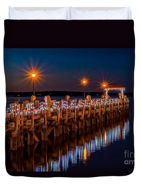 Holiday On The Docks Duvet Cover