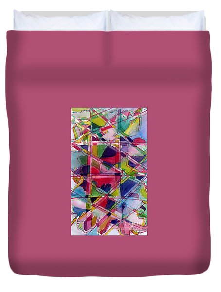 Holiday Rush Duvet Cover by Jan Bennicoff